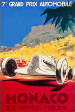 Poster  7e Grand Prix de Monaco 1935 - Travel Collection