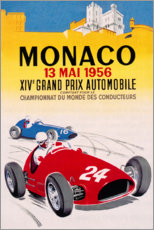 Poster  14e Grand Prix de Monaco, 1956 - Travel Collection