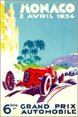 Poster  Grand Prix de Monaco, 1934 - Travel Collection