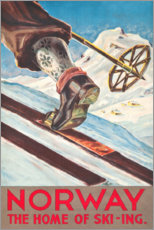 Poster  Norvège (anglais) - Travel Collection