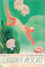 Poster  Summer Resort (anglais) - Travel Collection