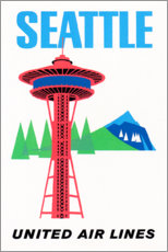 Poster  Seattle (anglais) - Travel Collection