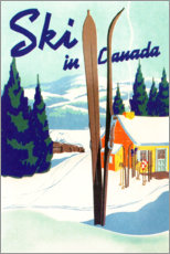 Poster  Ski au Canada (anglais) - Travel Collection
