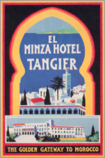 Poster  Hotel El Minzah à Tanger (anglais) - Travel Collection
