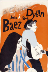 Poster  Concert de Bob Dylan et Joan Baez (anglais) - Entertainment Collection