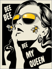 Sticker mural  Bee my queen - dolceQ