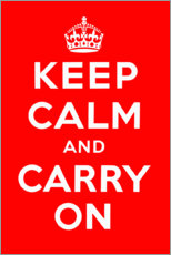 Poster  Keep calm and carry on - Advertising Collection