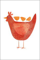 Poster  Poule et poussins - Nic Squirrell