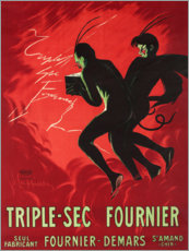 Tableau en aluminium  Triple Sec Fournier - Leonetto Cappiello