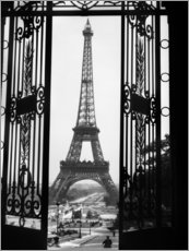 Sticker mural  Tour Eiffel vers 1920