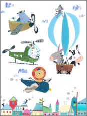 Tableau en PVC  Animaux volants - Pope Twins