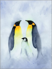 Poster  Famille de pingouins - Ray Shuell