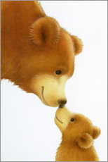 Poster  Gros ours, petit ours - Lisa Alderson