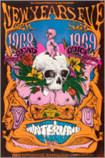 Poster  Grateful Dead, concert du nouvel an (anglais) - Entertainment Collection