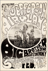 Poster  Jefferson Airplane 1966 - Entertainment Collection