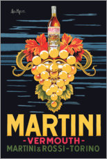 Tableau en bois  Affiche publicitaire Martini - Advertising Collection