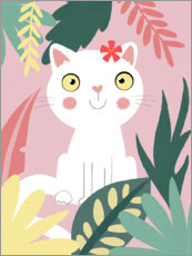 Tableau en plexi-alu  Chat de la jungle - Julia Reyelt