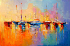Poster  Bateaux - Olha Darchuk