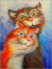 Poster  Couple de chats - Olha Darchuk