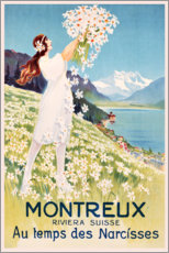 Poster  Montreux au temps des narcisses - Travel Collection