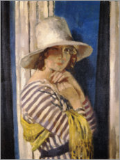 Poster  Mme Hone dans une robe rayée - Sir William Orpen