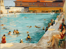 Poster  La piscine, Palm Beach - Sir John Lavery