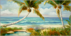 Poster Plage tropicale