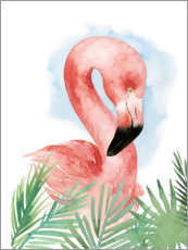 Poster  Composition flamant rose I - Grace Popp
