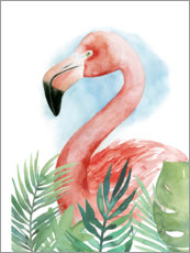 Poster  Composition flamant rose II - Grace Popp
