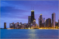 Poster Chicago la nuit