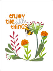 Tableau en bois  Enjoy the little things - Kerstin Ax