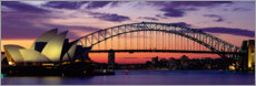 Poster  Harbour Bridge au coucher du soleil