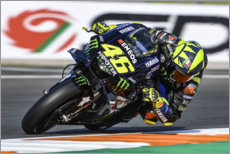 Poster Valentino Rossi, Yamaha Factory Racing, GP de Valence 2019