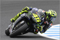 Tableau sur toile  Valentino Rossi, Yamaha Factory Racing, Japon 2019