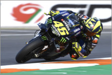 Poster Valentino Rossi, Yamaha Factory Racing, Valence 2019