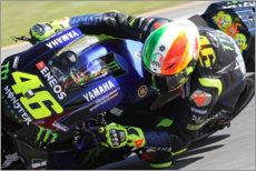 Tableau sur toile  Valentino Rossi, Yamaha Factory Racing, GP d'Italie 2019