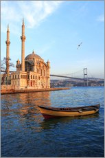 Sticker mural  Rowboat and Ortaköy Mosque - Ali Kabas