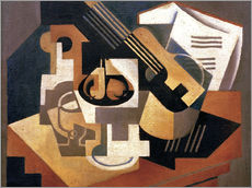 Sticker mural  Guitare et coupe de fruits - Juan Gris