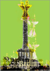 Sticker mural  Berlin Victory Column (on Green) - JASMIN!