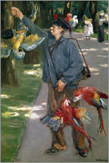 Sticker mural  Man with Parrots - Max Liebermann