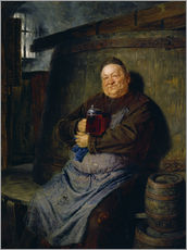 Sticker mural  Brother master brewer of beer in the cellar. In 1902. - Eduard Grützner