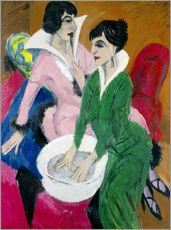 Sticker mural  Two women with sink (The Sisters) - Ernst Ludwig Kirchner