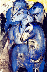 Sticker mural  Tower Blue Horse - Franz Marc
