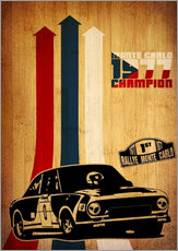 Sticker mural  Champion 1977 du rallye Monte-Carlo - David Siml