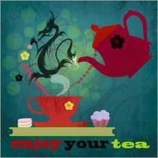 Sticker mural enjoy your tea