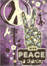 Tableau en plexi-alu  Give Peace A Chance - Elisandra Sevenstar