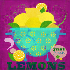 Tableau en plexi-alu  Just fresh lemons - Elisandra Sevenstar