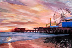 Sticker mural  Santa Monica Pier at Sunset - M. Bleichner