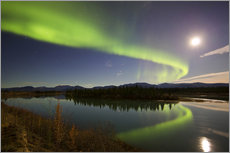 Tableau en plexi-alu  Aurora Borealis over the Yukon River - Joseph Bradley