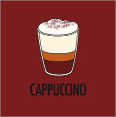 Sticker mural  Cappuccino, for the italian lover in you! - JASMIN!